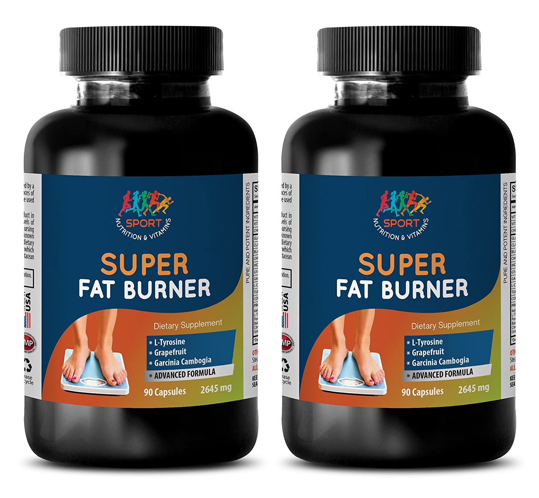 metabolism accelerator - SUPER FAT BURNER - weight management vitamins - 2 Bottles (180 Capsules)