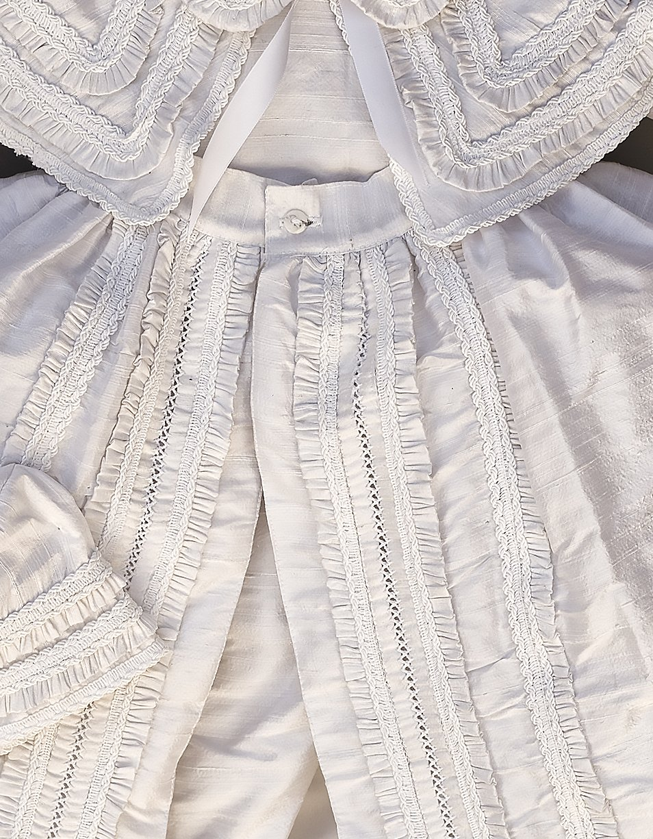 Heirloom Baby Boy's Christening Baptism Gown, Hand Made White Burbvus Ropones by Burbvus (Image #2)