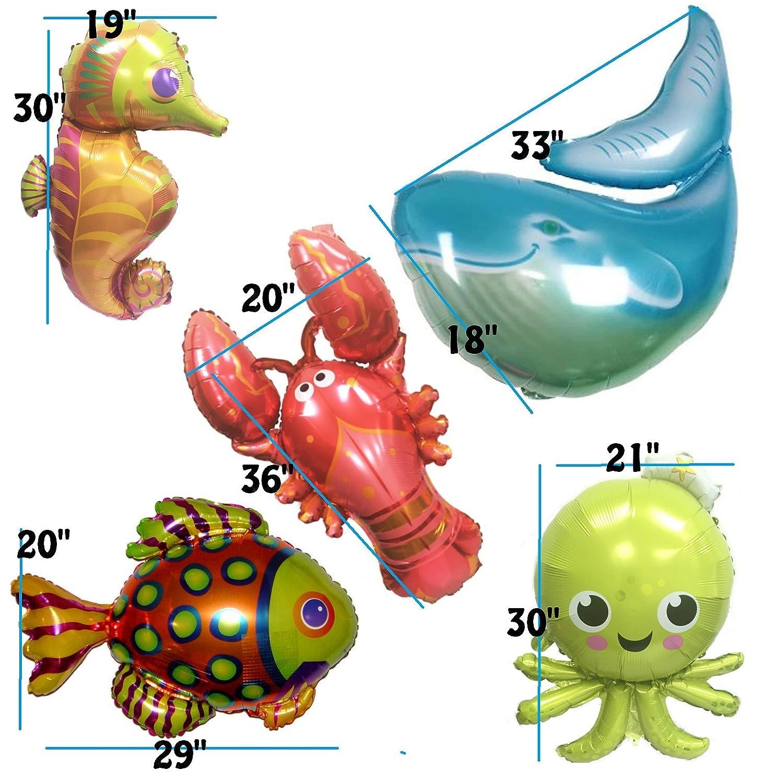 Ovee Lando Ocean Animals Octopus Whale Seahorse Fish Lobster Set of 5 OveeLando