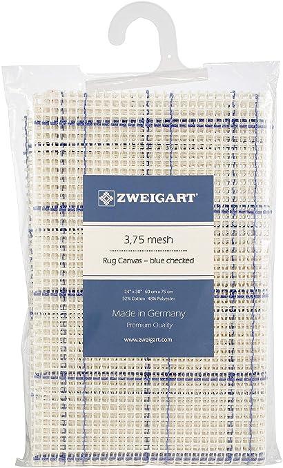 Zweigart Rug Canvas 24X30 3.75 Mesh-24X30 Blue Checked
