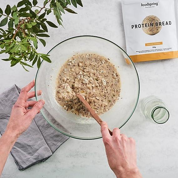 foodspring Pan proteico, 5 x 230g, Probablemente el pan proteico más delicioso: Amazon.es: Alimentación y bebidas