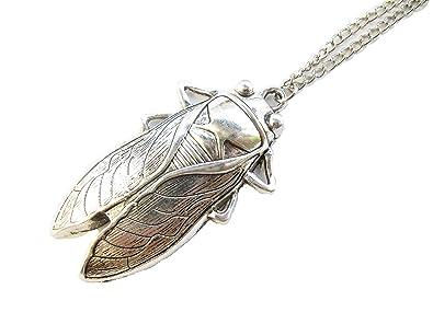Amazon cicada necklace cicada pendant necklace ancient silver cicada necklacecicada pendant necklaceancient silver insect necklacecicada jewelry bug aloadofball Choice Image