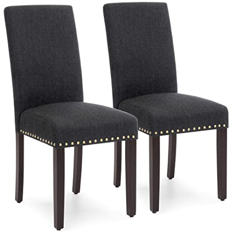 Incredible Amazon Com Best Choice Products Set Of 2 Upholstered High Short Links Chair Design For Home Short Linksinfo