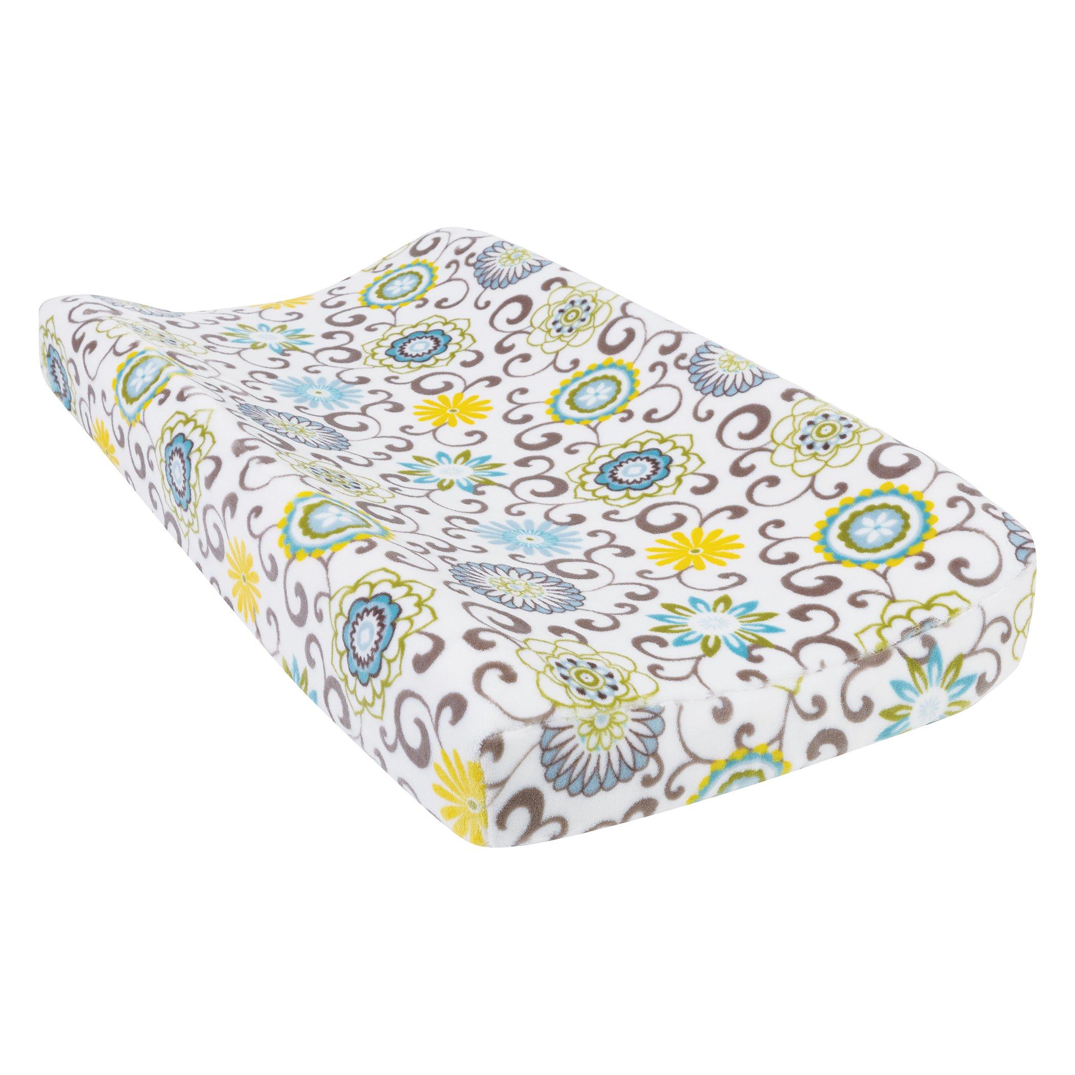 Trend Lab Plush Changing Pad Cover, Multi Waverly Pom Pom Spa
