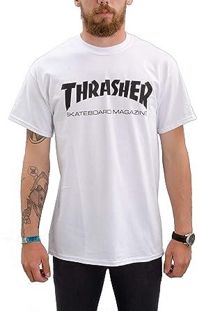 THRASHER - Camiseta - Moda - para Hombre Blanco Blanco ...