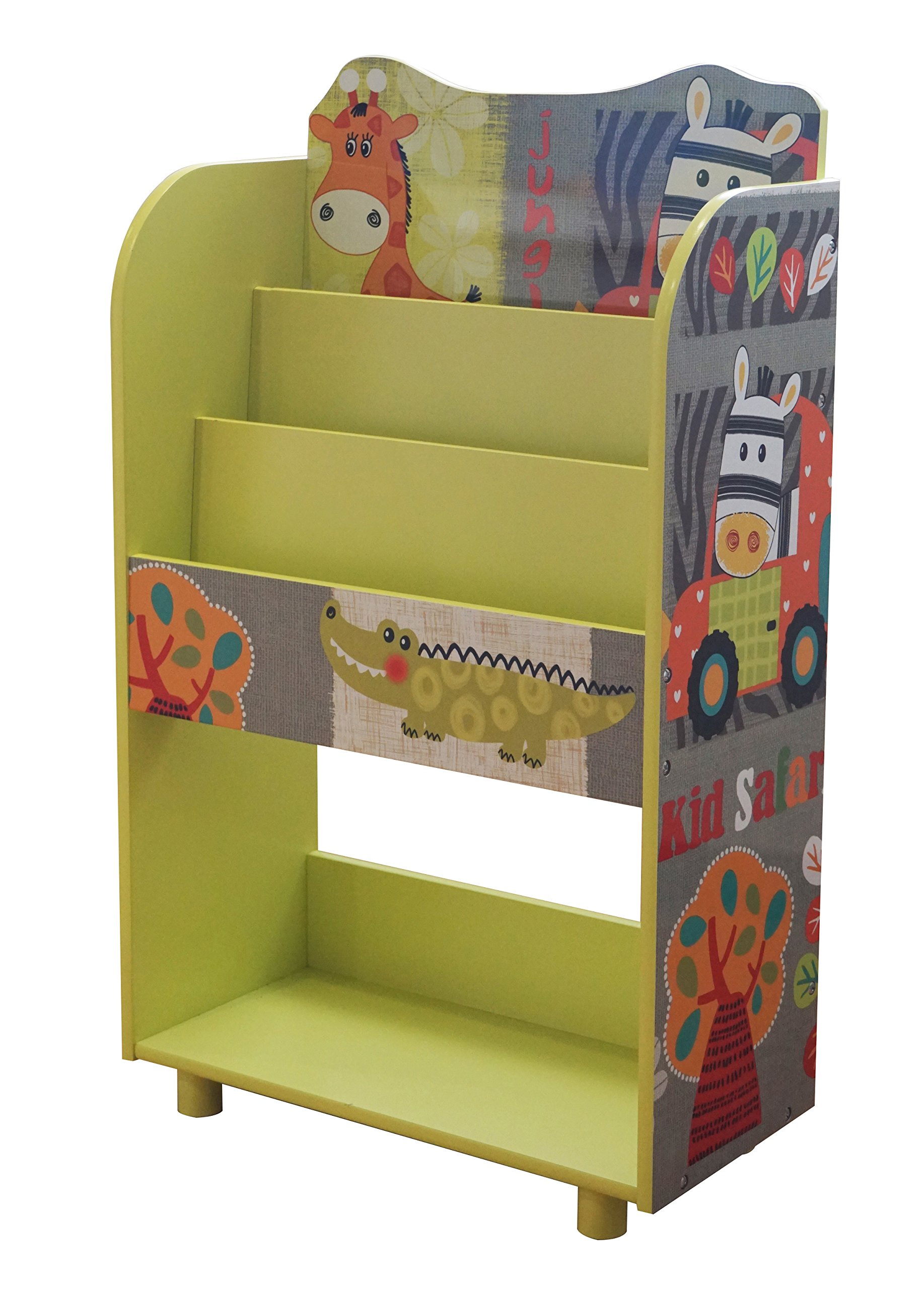 Liberty House Toys TF4802 Kid Safari Book Shelf, Multi-Coloured, H96.5 x W48.5 x D24cm
