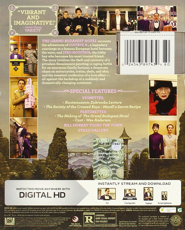 Amazon Com The Grand Budapest Hotel Blu Ray Ralph Fiennes F