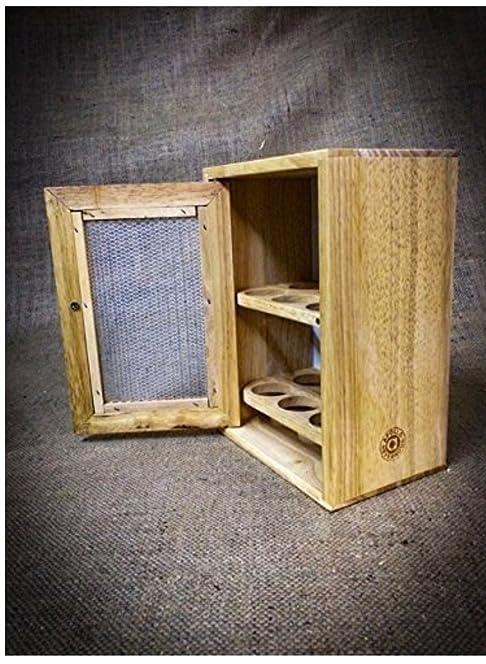 Stylish Wooden Egg Holder Cabinet Cupboard - Storage Rack: Amazon ...