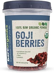 BAREORGANICS Goji Berries, 8 Ounce