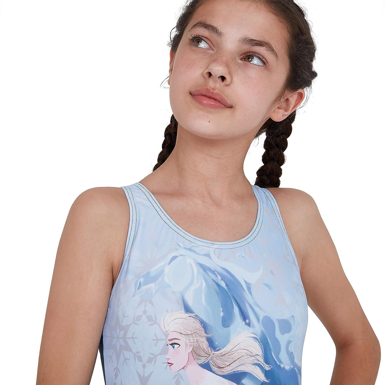 Speedo Splashback con Inserto Digital Disney Frozen 2 Elsa Ba/ñador Ni/ñas