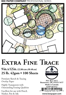 Bee Paper Extra Fine Tracing Pack 100 Sheets per Pack 9-Inch by 12-Inch