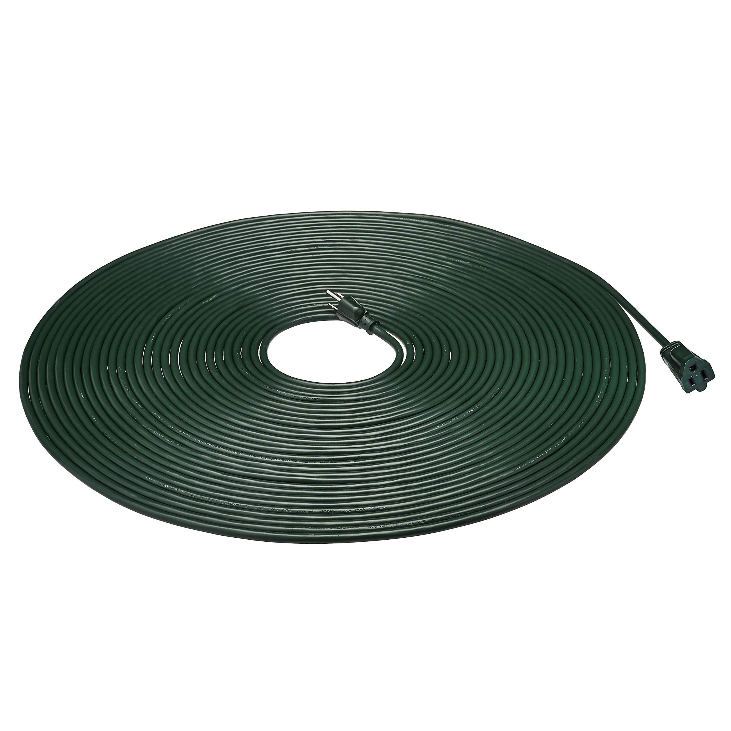 AmazonBasics 16/3 Vinyl Outdoor Extension Cord | Green, 100-Foot