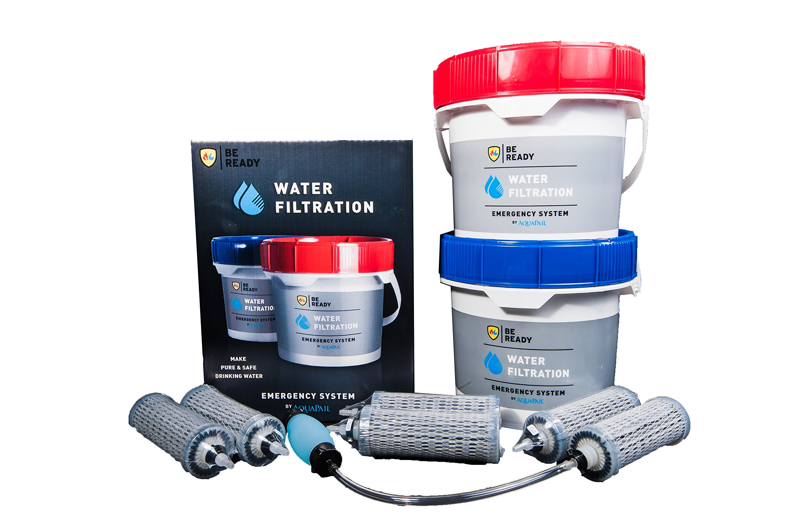 Aquapail - Gravity-fed water filter, 3,300 gallons