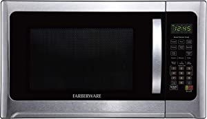 Farberware Professional FMO12AHTBKE 1.2 Cu. Ft. 1100-Watt Microwave Oven With Smart Sensor Cooking and LED Lighting, Brushed Stainless Steel