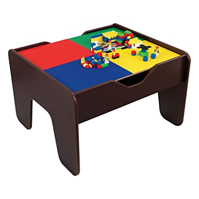 Kidkraft 2-in-1 Activity Table Espresso: Toys & Games