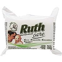 Sabão Pedra Coco Flow Pack, 100 g, Ruth, Branco, Pequeno