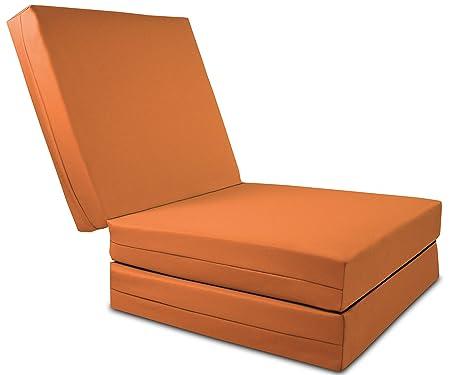 Pouf Poltrona Letto.Gilda Poltrona Letto Per Adulti Arancione Grande Cubo Poltrona