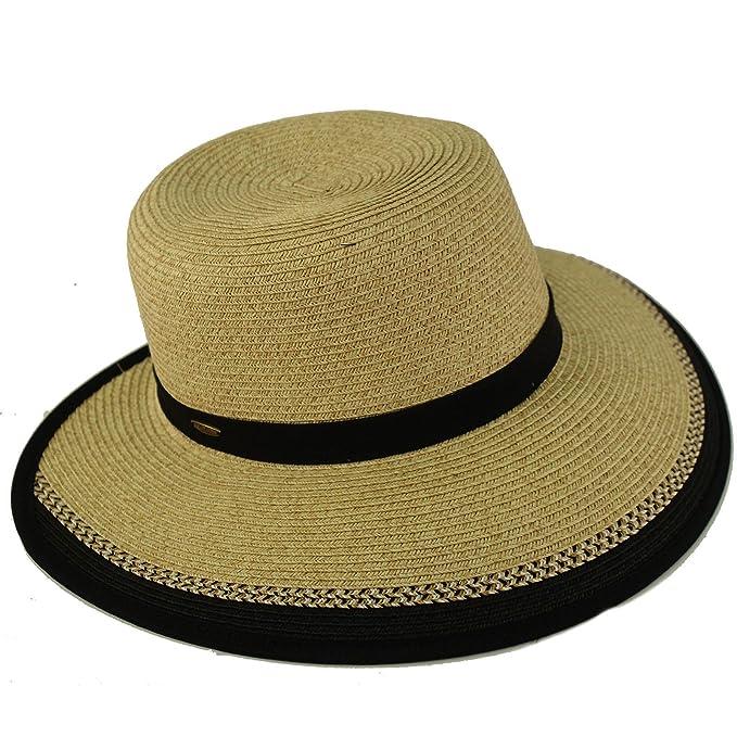 54764fd9 C.C Backless Brim Floppy Visor 3-3/4 Wide Summer Beach Pool Sun Hat ...