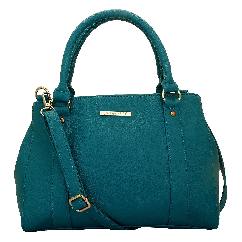 Lapis O Lupo Women's Handbag(Turquoise, LLHB0013TQ)