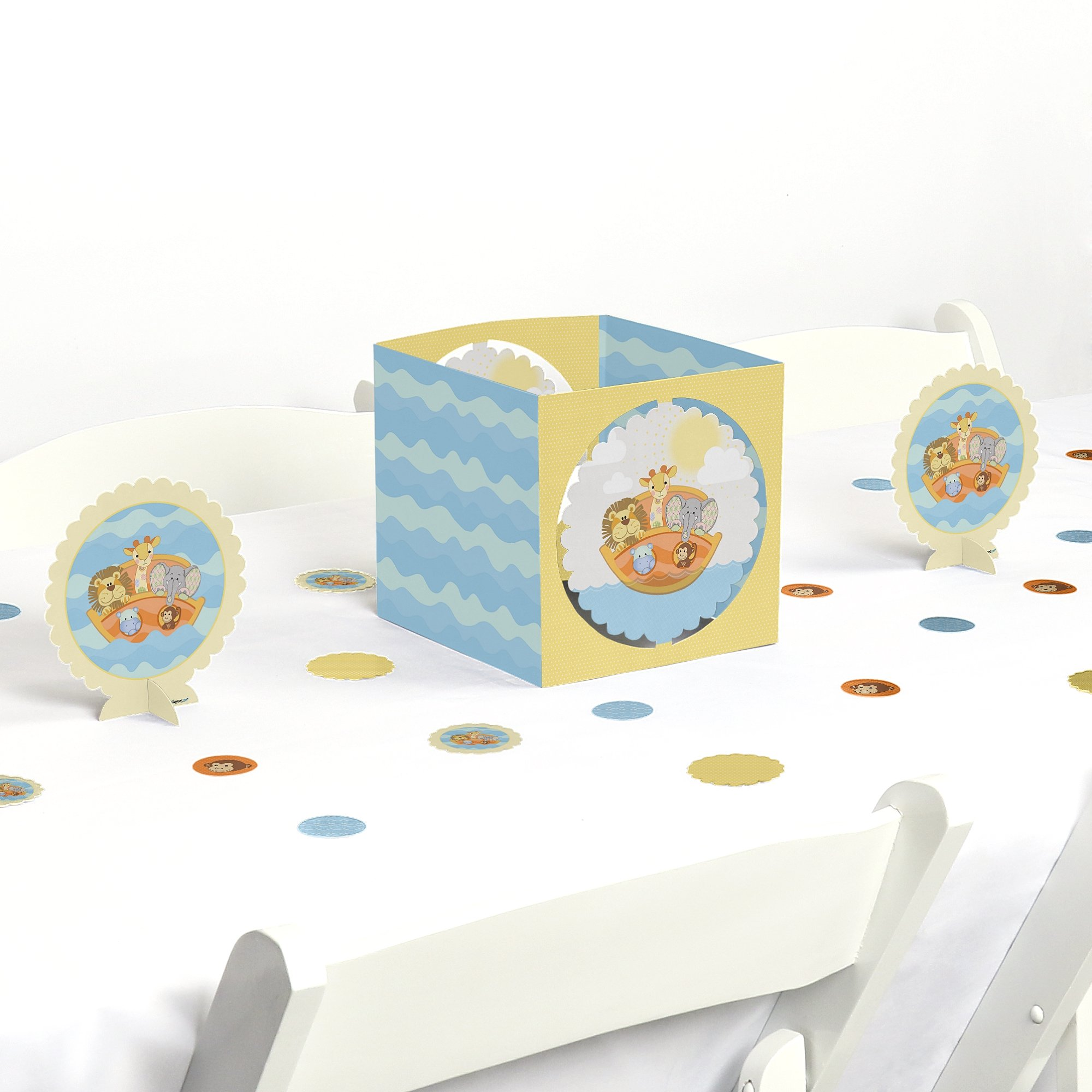 Noah's Ark - Baby Shower or Birthday Party Centerpiece & Table Decoration Kit by Big Dot of Happiness