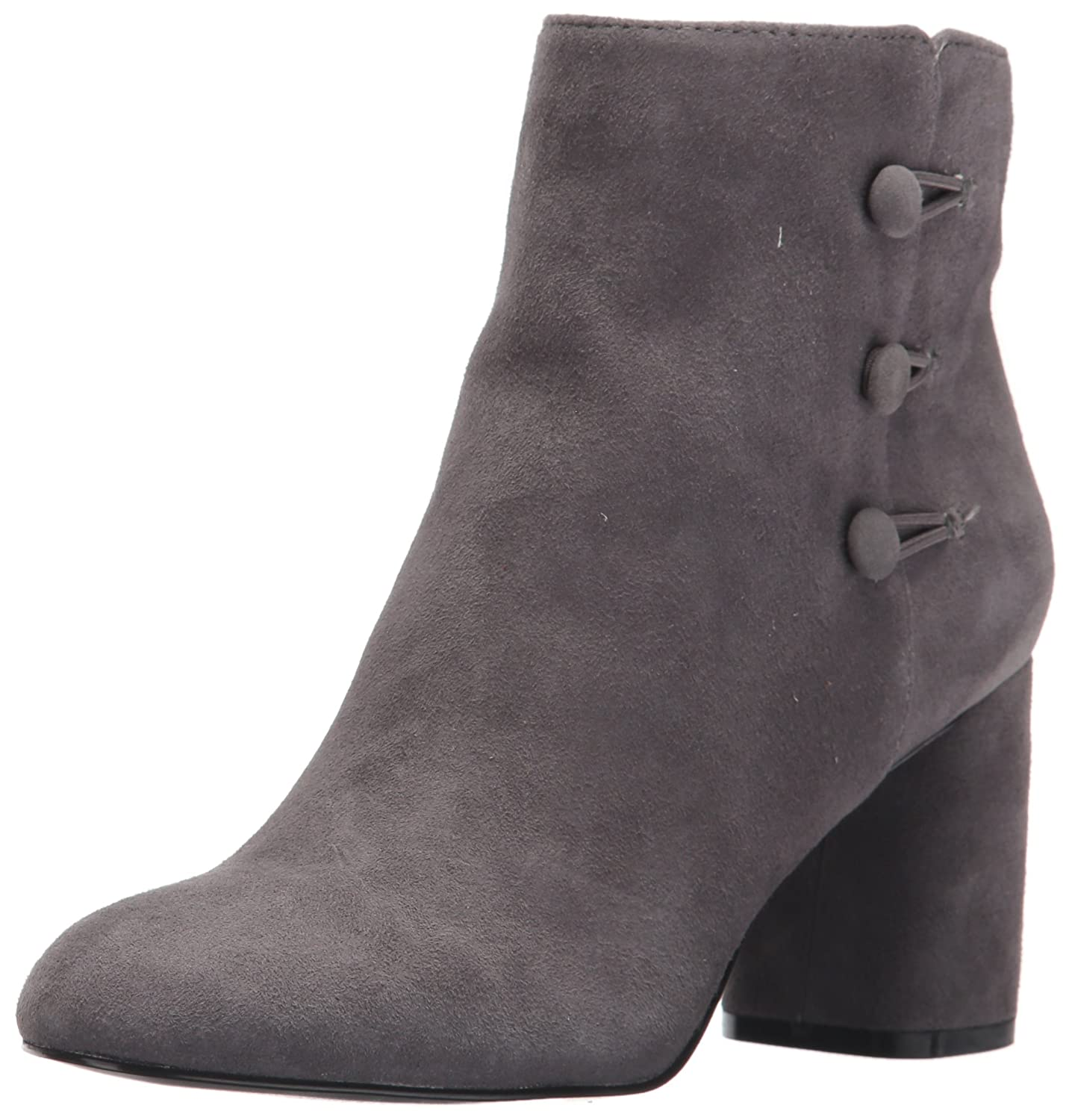 Nine West Women's Khraine Suede Ankle Boot B071HQGKBH 11.5 B(M) US|Grey/Grey Suede