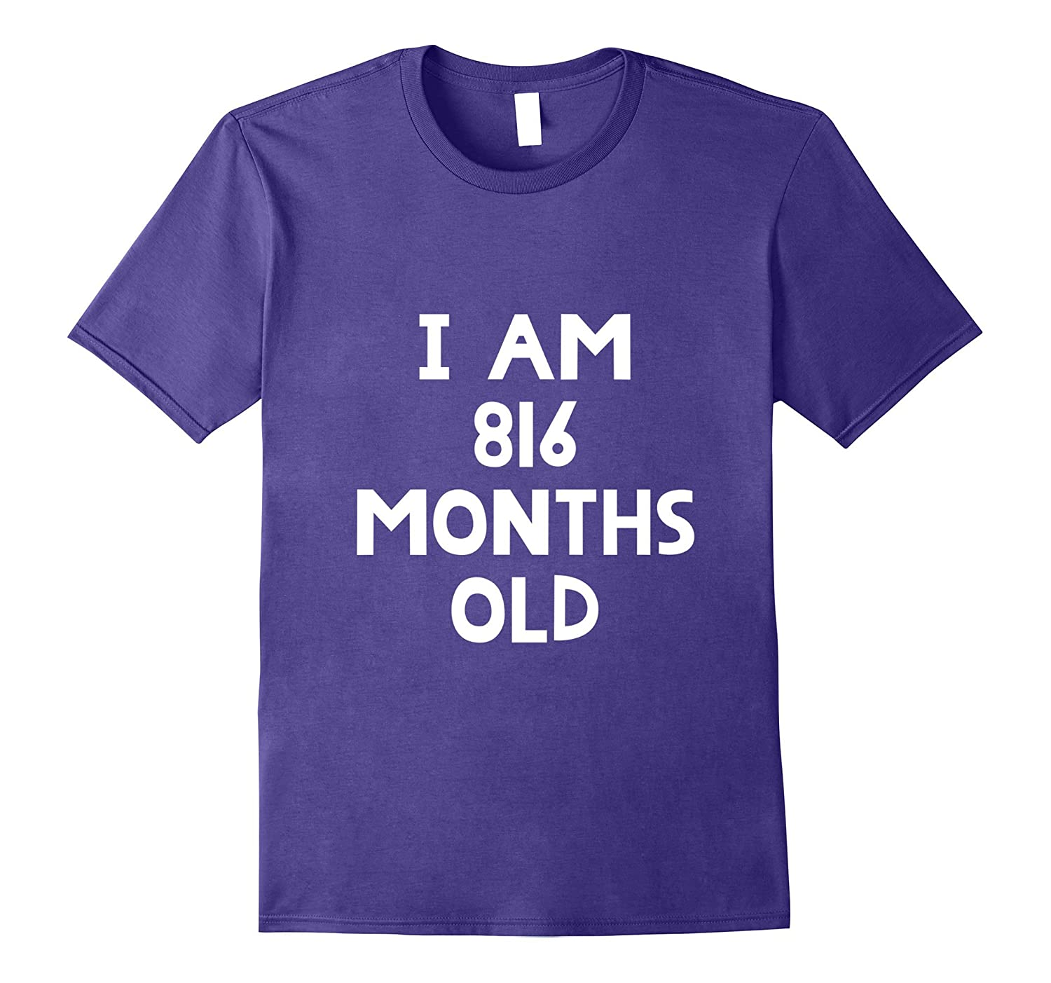 68th Birthday T-Shirt I Am 816 Months Old Funny Gift-CL