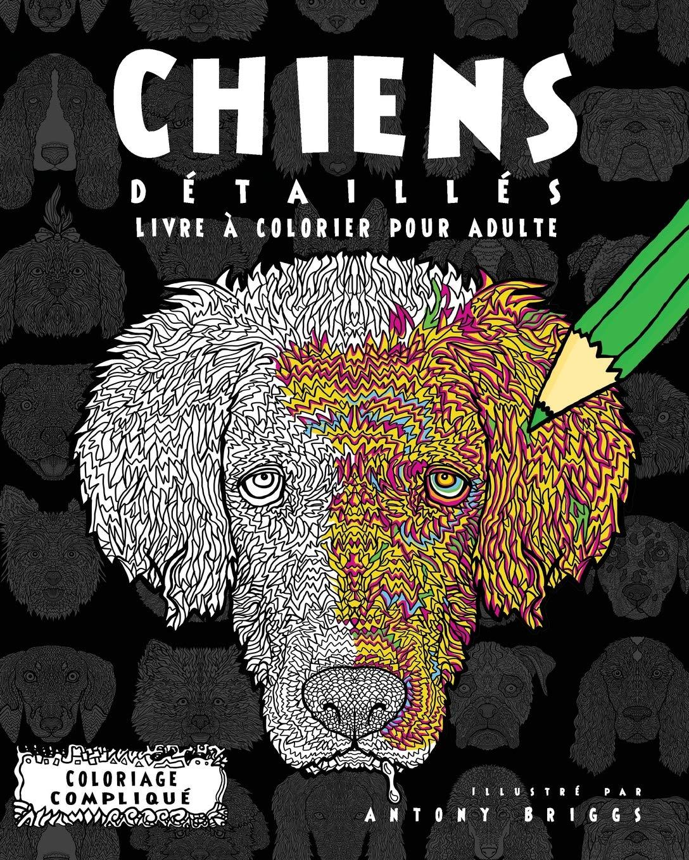 Coloriage Chien Lhassa Apso.Amazon Fr Chiens Detailles Livre A Colorier Pour Adulte