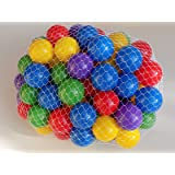 """(Up to 40% Extra Discount) My Balls Pack of 100 2.5"""" 65mm Ball Pit Balls in 5 Bright Colors - Crush-proof Air-Filled Soft Plastic, Phthalate & BPA Free"""