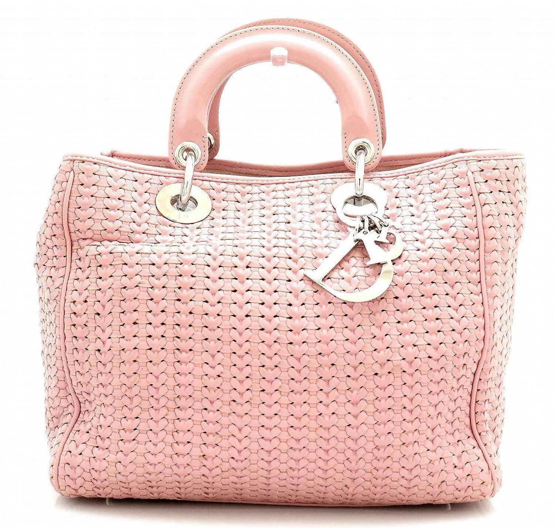 [クリスチャン ディオール] Christian Dior イントレチャート レディディオール ハンドバッグ ピンク シルバー金具 B07DMTLZ5Y