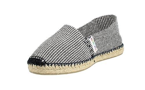 Alpargata Plana Pata de Gallo Negro Mujer: Amazon.es: Zapatos y complementos