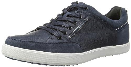 Zapatos de cordones de cuero, Hombre, Negro (Black Leather), 40 Hush Puppies