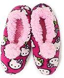 Hello Kitty Girls 7-16 Slipper Sock, Fuschia, Small