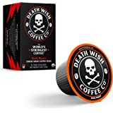 DEATH WISH Death Cups [10 Count] Single Serve Coffee Pods, World's Strongest Coffee, Dark Roast, Capsule Cup, USDA Certified