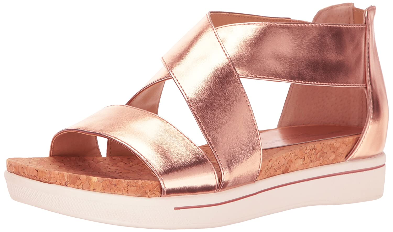 ADRIENNE VITTADINI Footwear Women's Claud Sandal B01N1S9R7M 11 B(M) US|Rose Gold/Metallic