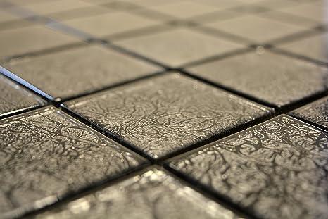 Piastrelle mosaico mosaico piastrelle lucido nero cucina bagno wc