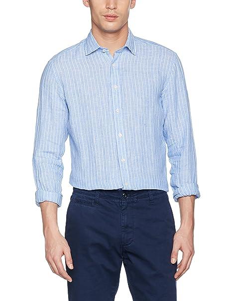 Hackett Bengal Stripe Logo, Camisa para Hombre, Azul (Blue 551), X-Large Hackett