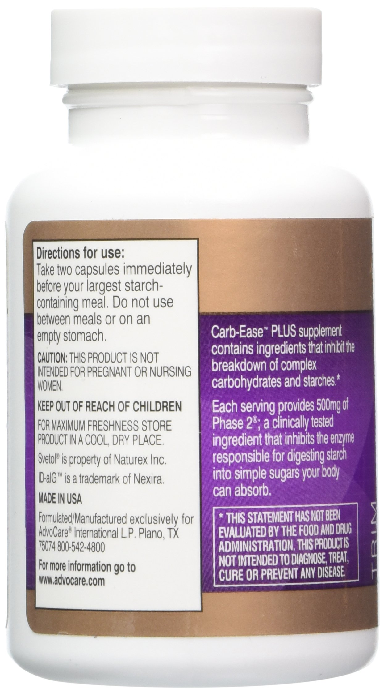 Advocare Carb-Ease Plus - 60 Capsules by AdvoCare (Image #3)