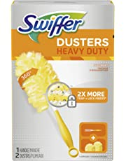 Swiffer Dusters Heavy Duty Starter Kit (1 Handle, 2 Dusters) Packaging May Vary