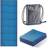 Avoalre Yogamat Opvouwbaar Antislip Draagbaar 60 cm x 173 cm x 5 cm Milieuvriendelijke PVC Yogamat Dikke Fitness…