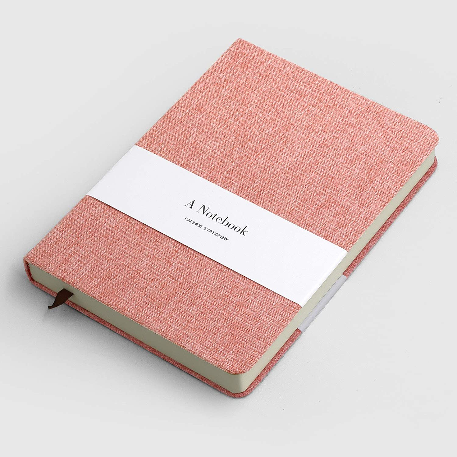 Hard Cover with Art Cloth Pink KKDragon Notebook A5 Notepad Ruled Paper /& Blank Paper Total 132 Sheets 264 Pages