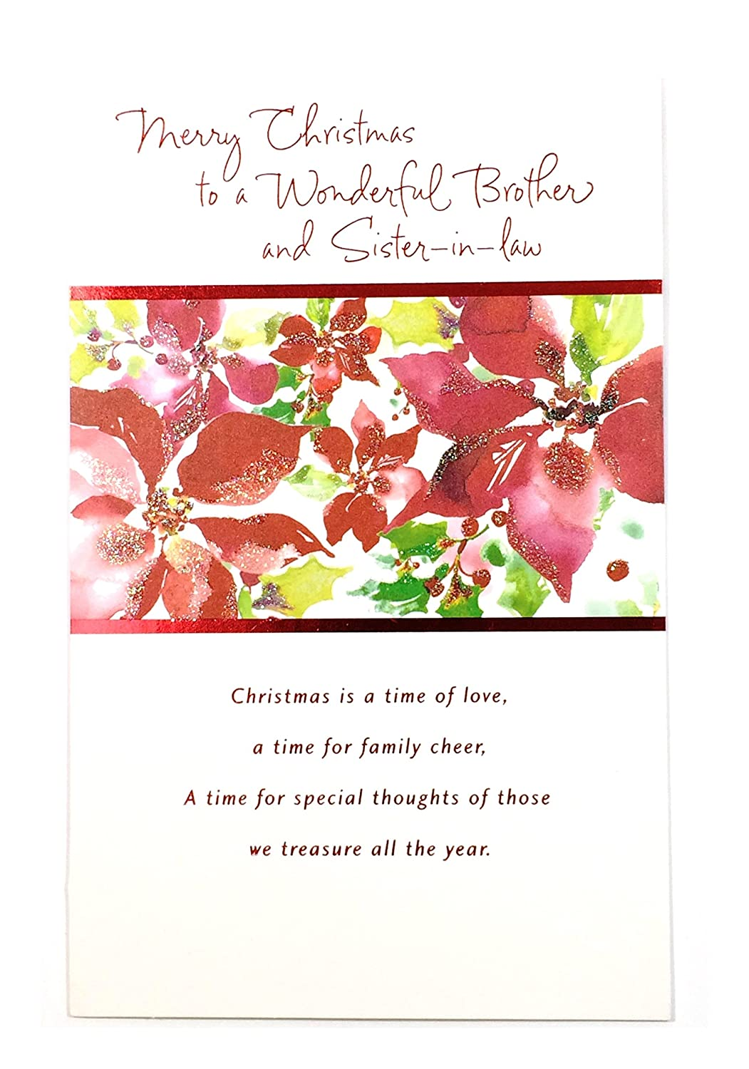 Amazon Christmas Card For Brother Wifemerry Christmas To A