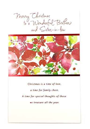christmas card for brother wifemerry christmas to a wonderful brother and sister
