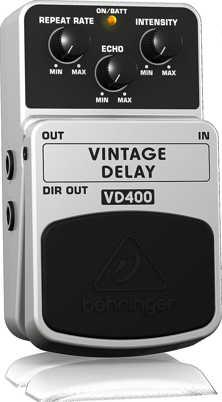 Behringer Vd400 Vintage Delay Effects Pedal Musical Back Talk Reverse Analog Board Circuit Instruments