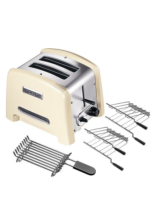 KitchenAid IKPTT780 Tostapane con Scaldapane e 2 Pinze Toast (Crema ...