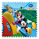 DISNEY CARTOON CHARACTER CHILDRENS KIDS BABY INTERLOCKING SOFT EVA PLAY AREA MAT GYM FOAM JIGSAW FLOOR TILES TOY PUZZLE (Disney Mickey Mouse Clubhouse)