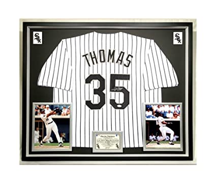 free shipping 844d0 aea64 Premium Framed Frank Thomas Autographed/Signed Chicago White ...