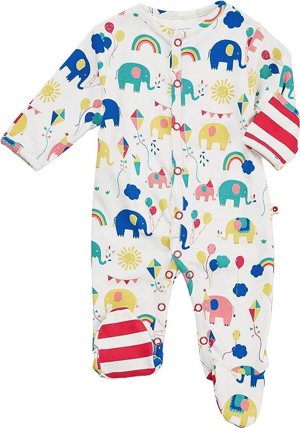 Piccalilly - Pijama de bebé de algodón orgánico con pies, elefante ...