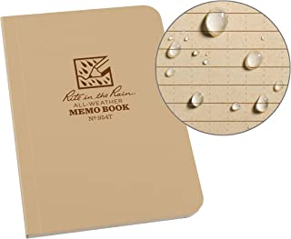 "product image for Rite in the Rain Weatherproof Soft Cover Pocket Notebook, 3 1/2"" x 5"", Tan Cover, Universal Pattern (No. 954T)"