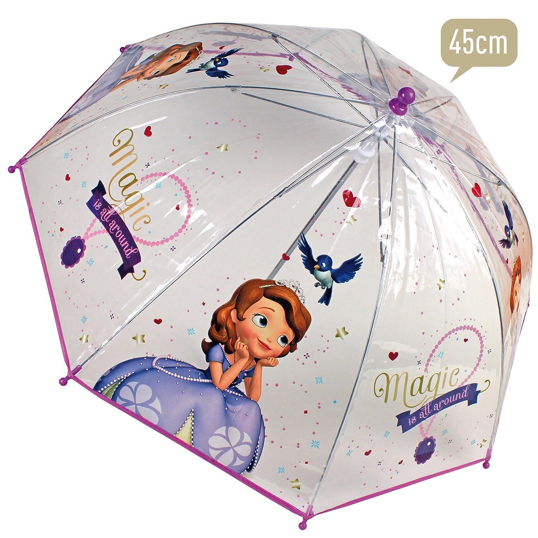Paraguas Princesa Sofia burbuja manual 45cm: Amazon.es: Juguetes y juegos