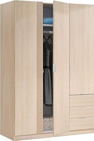 Medidas armario: 121 cm (largo) x 180 cm (alto) x 52 cm (fondo).,Acabado en melamina de calidad colo